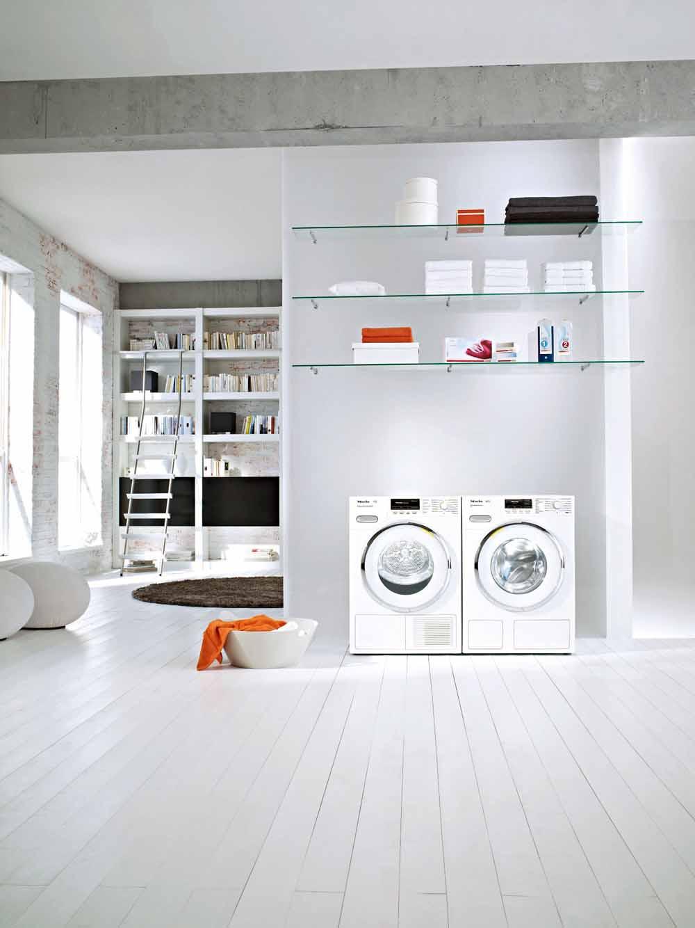 Tvättstugan behöver en bra tvättmaskin samt en arbetsbänk — MediaExtra : bra torktumlare : Inredning